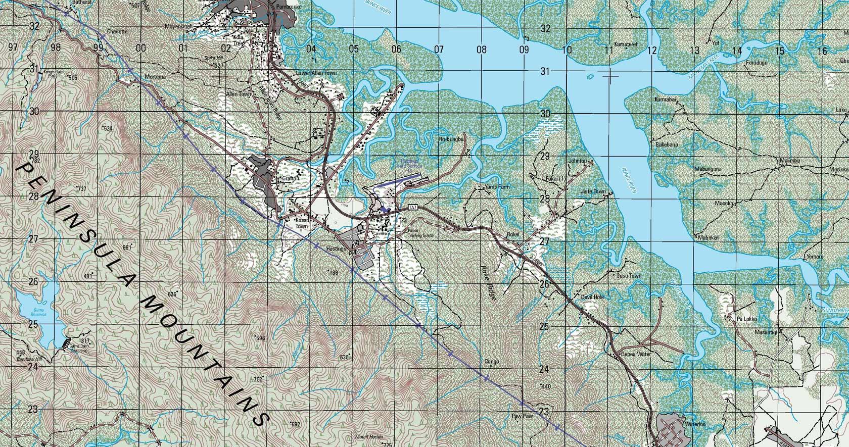 Cartographic Web Services Hexagon US Federal - Us humanitarian map
